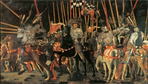 Battle of San Romano: Micheletto da Cotignola by Paolo Uccello