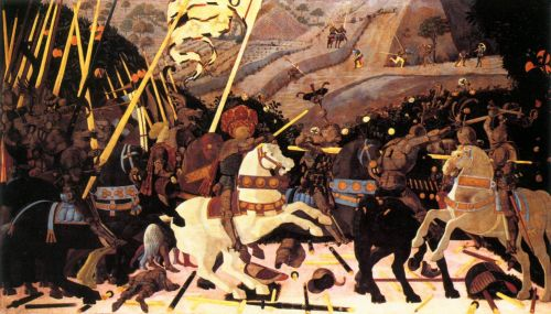 Battle of San Romano: Niccolò da Tolentino by Paolo Uccello