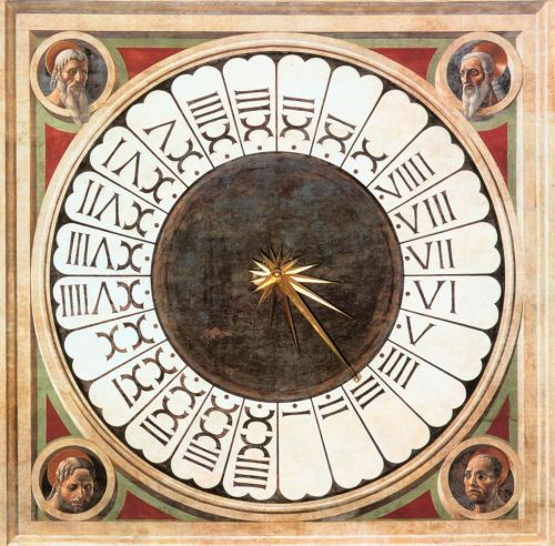 Clock with Heads of Prophets by Paolo Uccello