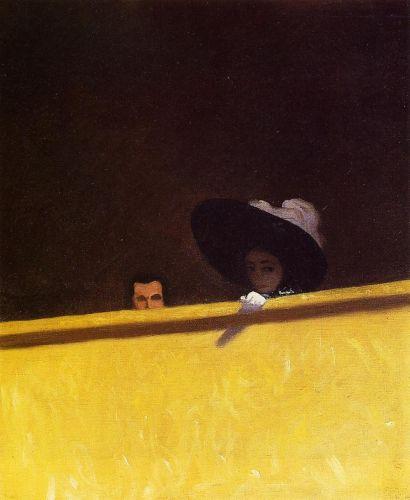 Box Seats at the Theater, the Gentleman and the Lady by Félix Vallotton