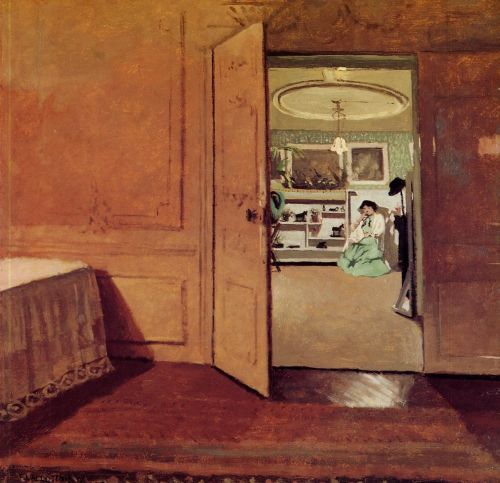 Interior, Vestibule by Lamplight by Félix Vallotton