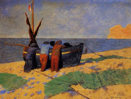 The Fourteenth of July at Etretat by Félix Vallotton