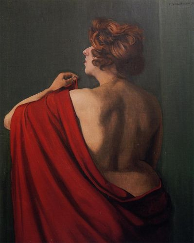 Woman with Red Shawl by Félix Vallotton
