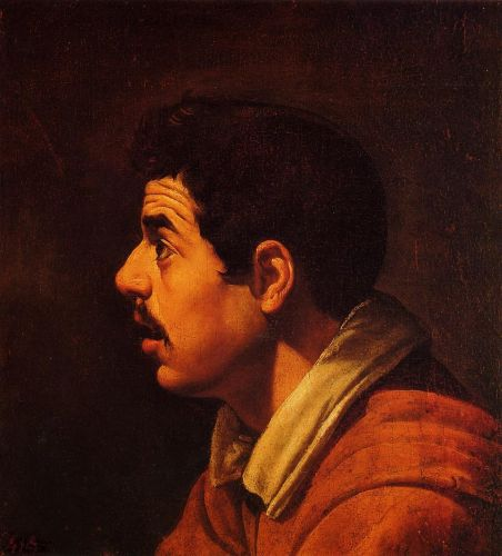 Head of a Young Man in Profile by Diego Velázquez