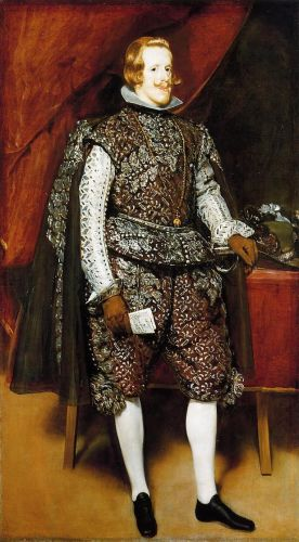 Philip IV in Brown and Silver by Diego Velázquez