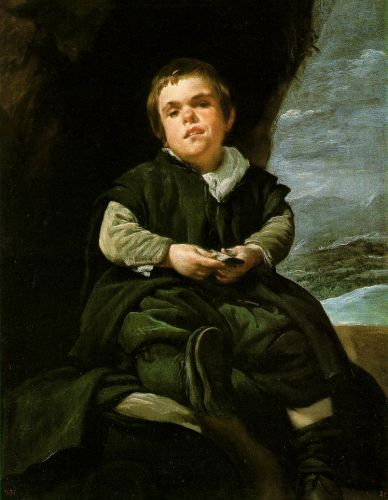 The Dwarf Francisco Lezcano by Diego Velázquez