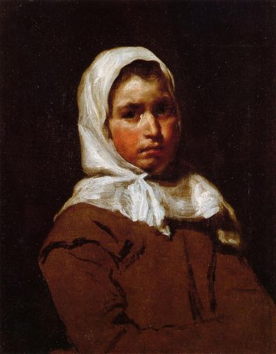 Young Peasant Girl by Diego Velázquez
