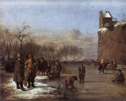 Amusement on the Ice by Adriaen van de Velde