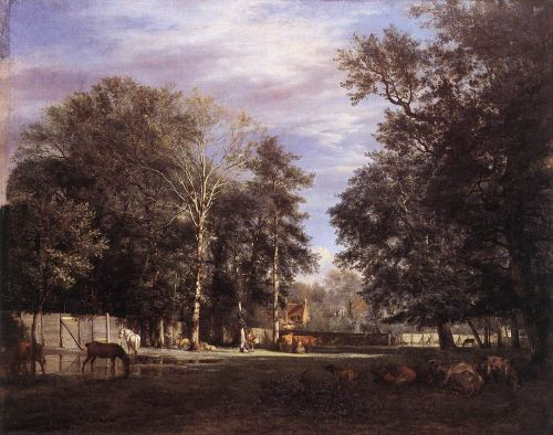 The Farm by Adriaen van de Velde