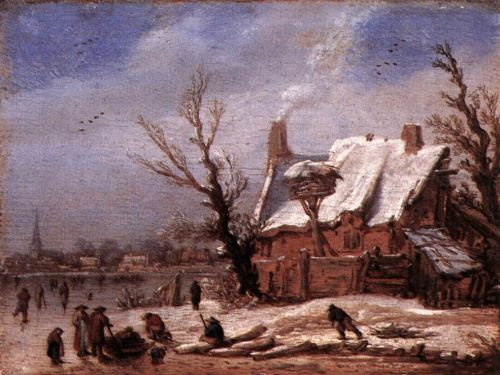 Winter Landscape by Esaias van de Velde