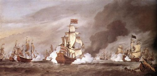 The Battle at Texel by Willem van de Velde