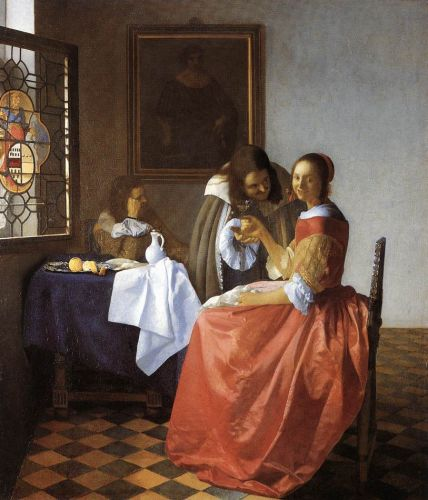 A Lady and Two Gentlemen by Jan Vermeer
