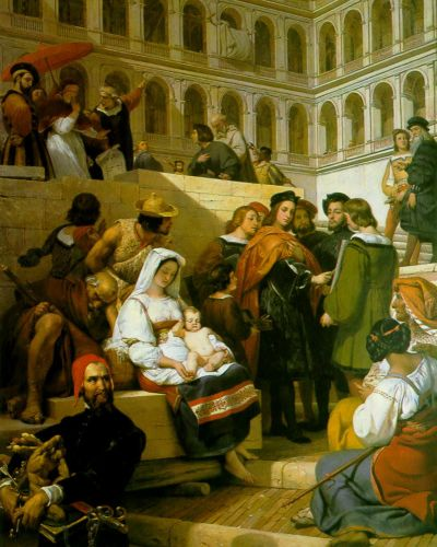 Raphael and Pope Leo X by Horace Vernet