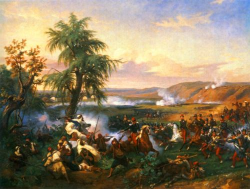 The Battle of Habra, Algeria by Horace Vernet