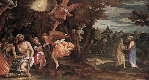 Baptism and Temptation of Christ by Paolo Veronese