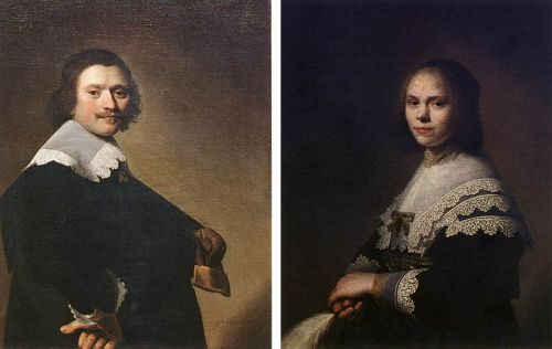 Portrait of a Man and Portrait of a Woman by Jan Cornelisz Verspronck