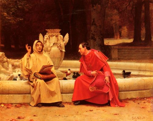 A Fine Point by Jehan Georges Vibert