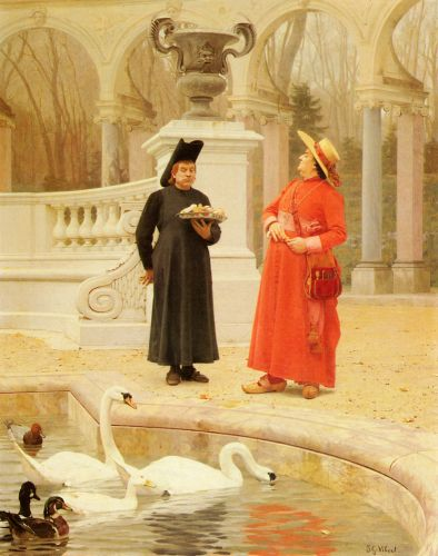 A Plate of Cakes by Jehan Georges Vibert