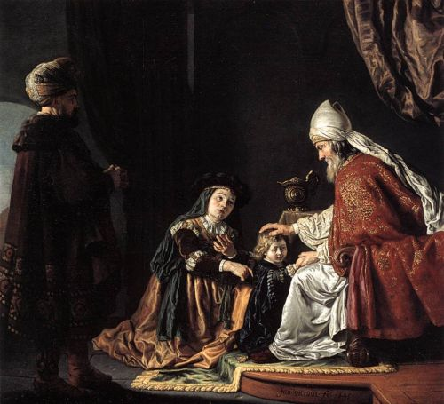 Hannah Giving Her Son Samuel to the Priest by Jan Victors