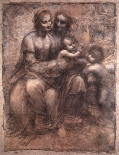 Madonna and Child with St Anne and the Young St John by Leonardo da Vinci