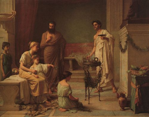 A Sick Child Brought into the Temple of Aesculapius by John William Waterhouse