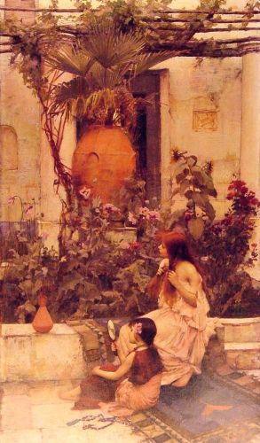 At Capri by John William Waterhouse