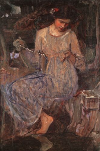 The Necklace by John William Waterhouse
