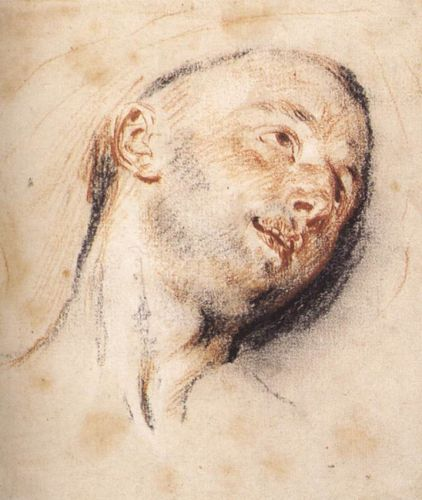 Head of a Man, 1718 by Jean-Antoine Watteau