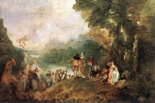 The Embarkation for Cythera, 1717 by Jean-Antoine Watteau