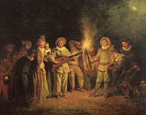 The Italian Comedy, 1714 by Jean-Antoine Watteau