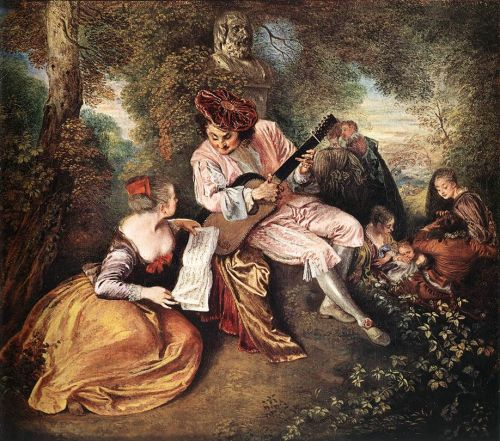 The Scale of Love (La gamme d'amour), 1715-1718 by Jean-Antoine Watteau