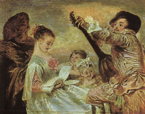 The Music Lesson, 1716-1717 by Jean-Antoine Watteau