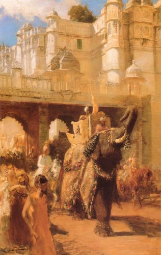 A Royal Procession by Edwin Lord Weeks