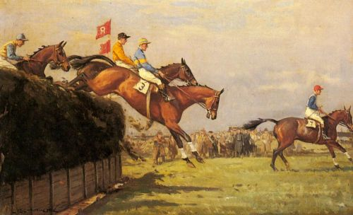 The Grand National Steeplechase by John Sanderson Wells