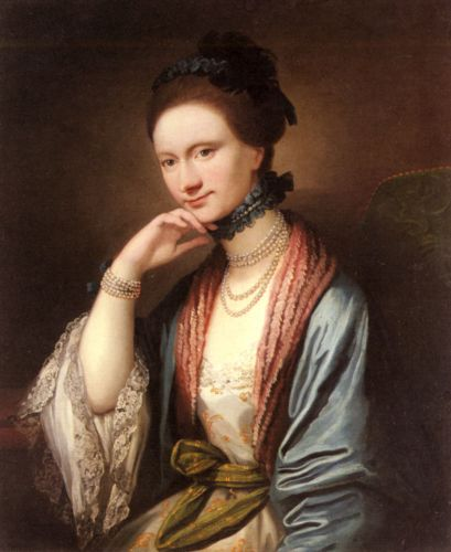 Portrait of Ann Barbara Hill Medlycott by Benjamin West
