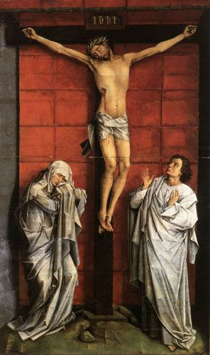 Christus on the Cross with Mary and St John by Rogier van der Weyden