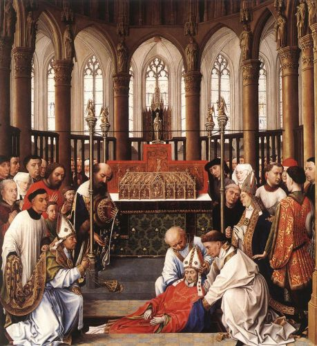 Exhumation of St Hubert by Rogier van der Weyden