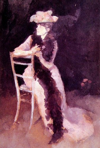 Portrait of Mrs Whibley by James Abbott McNeill Whistler
