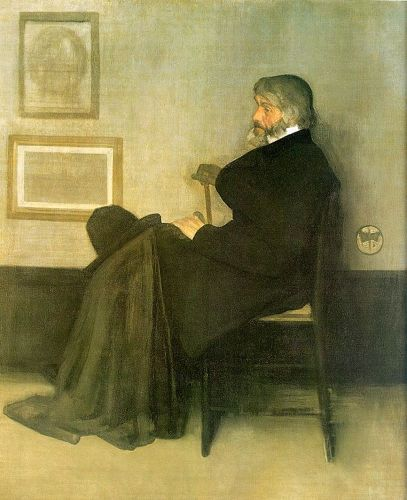 Portrait of Thomas Carlyle by James Abbott McNeill Whistler