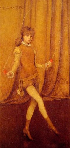 The Gold Girl Connie Gilchrist by James Abbott McNeill Whistler