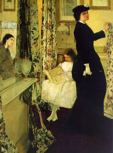 The Music Room by James Abbott McNeill Whistler