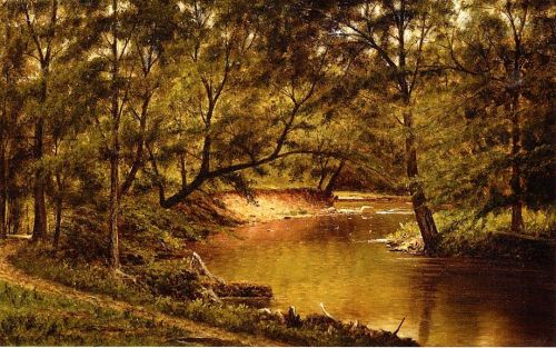 Woodland Interior by Thomas Worthington Whittredge