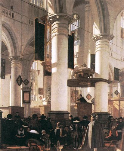 Interior of a Church by Emanuel de Witte