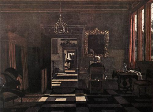 Interior with a Woman at the Virginals by Emanuel de Witte