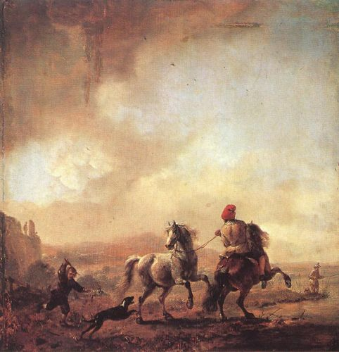 Two Horses by Philips Wouwerman