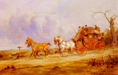 A Coach And Four On The Open Road by George Wright