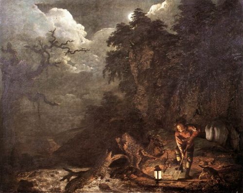 Earthstopper at the Bank of Derwent by Joseph Wright