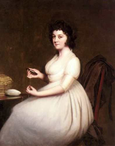 Portrait of Mrs Abney by Joseph Wright