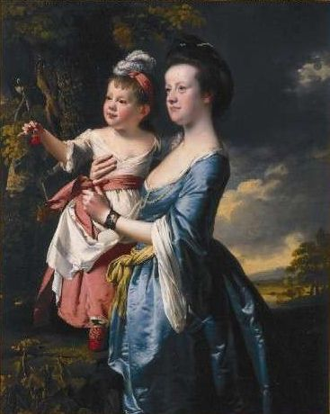 Portrait of Sarah Carver and her daughter Sarah by Joseph Wright