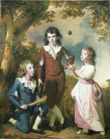 The Children of Hugh and Sarah Wood of Swanwick by Joseph Wright